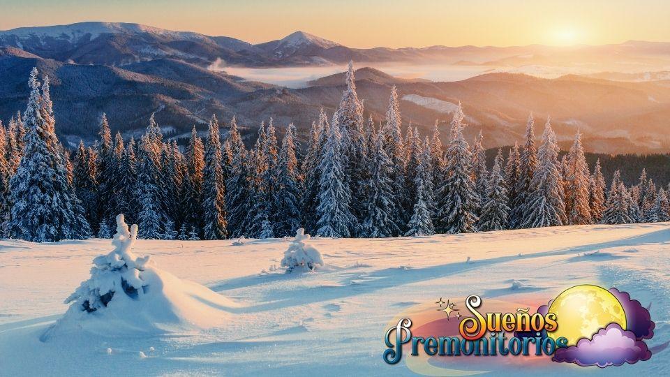 sonar con profundas nevadas