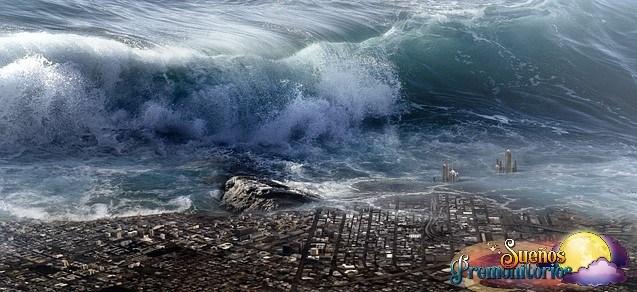 tsunami destruye ciudad