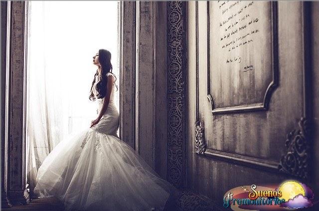 sonar con vestido de novia
