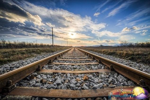 sonar con vias de tren