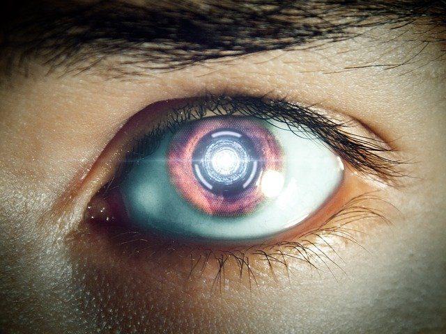 ojo de un robot