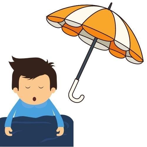 sonando con paraguas