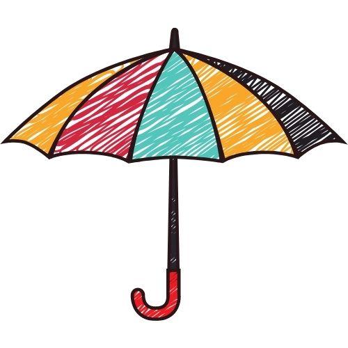 sonar con paraguas de colores