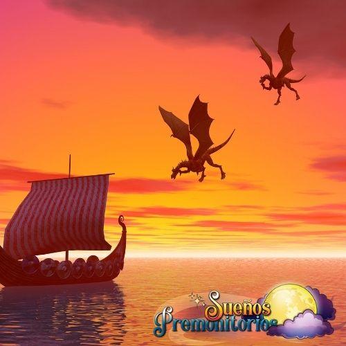 sueno con dragones volando